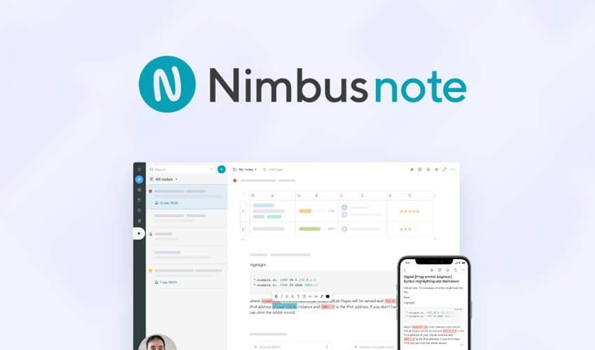 Nimbus Note Lifetime Deals Italia